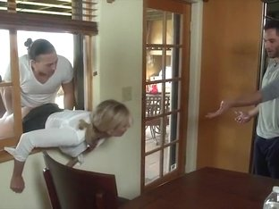 Stuck and fucked by both sons STEPMOM