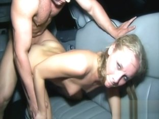 Leah fucks in the back seat