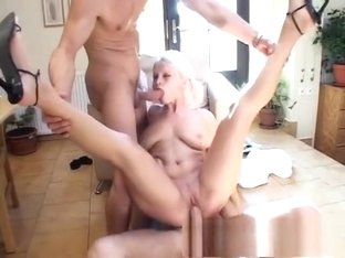 Stacked blonde has two hung doctors taking care of her sexual desires