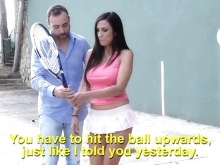 She is better at penis than tennis