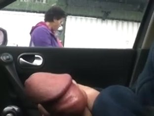 Flashing in the car 13
