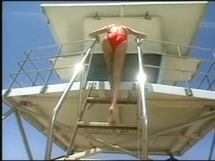 Amber Lynn doing the lifeguard