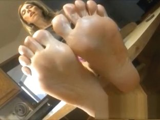 Freaky blonde has A kinky foot fetish