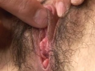 Japanese housemaid got her hairy pussy pleased witha vibrating dick
