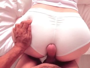 Her Thick Ass is so Fresh After Shower  Pantyjob Cumshot on Cotton Panties