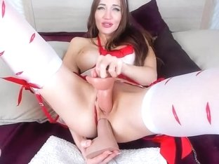 Double dildo and squirting