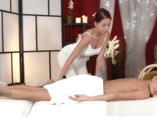 Massage Rooms Beautiful oiled lesbians finger fuck and enjoy intense orgasm