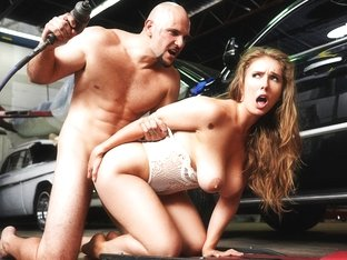 Lena Paul & Jmac in Rich Girl Gets Greasy - BigNaturals