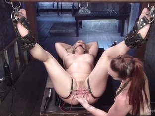 Slutty Electrogasms: Anal slut can't stop coming on electricity!