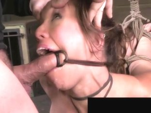 Audrey Rose Brutally Face Fucked Bound