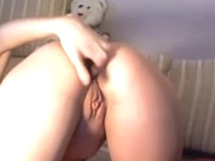 Nice-Looking Russian Golden-Haired Masturbating HD