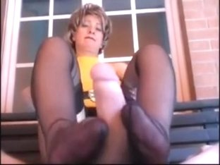 Footjob Hot MILF Shoejob