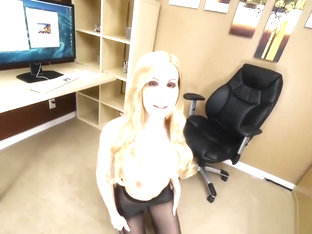 Office Fling POV - HUGE TITS and Ripped Pantyhose