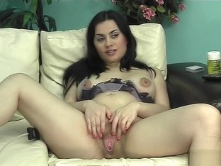 Brunette teases in hot amateur solo video