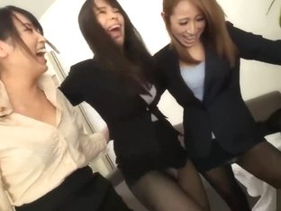 Pantyhose of three female employees