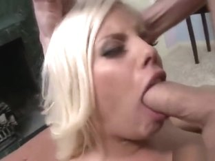 Incredible towheaded Britney Amber having a wonderful face cumshot