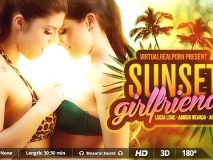 Amber Nevada  Andy Stone  Lucia Love in Sunset Girlfriends - VirtualRealPorn