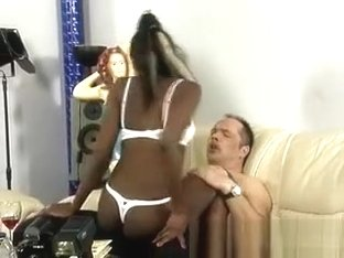 Horny African Beauty Loves Her Mature Gifted White Boyfriend