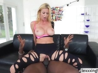 Busty MILF Alexis Fawx takes a bbc in her wet pussy