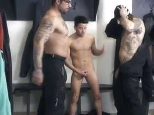 threesome winter locker room bareback