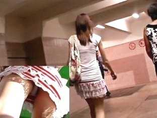 The lengthy legged teenie up petticoat on video