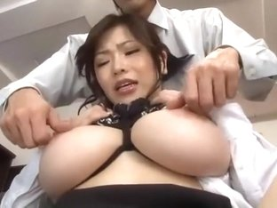 Amazing Japanese chick Anri Okita in Incredible Secretary, BDSM JAV video