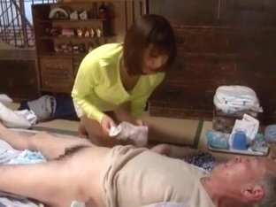 Incredible Japanese whore Akari Satsuki in Amazing Handjobs, Oldie JAV clip