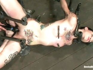 Pain slut takes some brutal punishment & orgasmsExtreme cunt & nipple torment, fucking ouch!