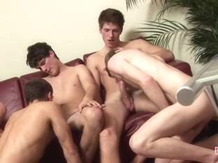 A Shower Of Cum In A 6 Boy Orgy - Kevin Pure  Brandon Pav - PhoeniXXX