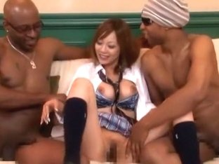 Incredible Japanese whore Ayame Sakura 2 in Exotic Lingerie, Threesome JAV video