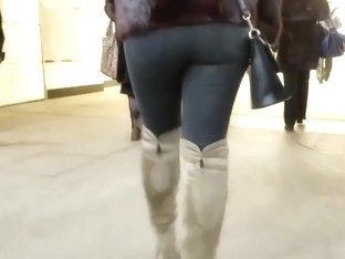 Tight ass in winter day