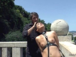 Mistress disgraces and makes slace fuck