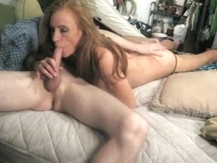 Sexually Excited mature i'd like to fuck skank is gobbling on a hard cock